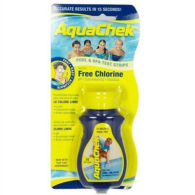 Aquachek Yellow Pool 50pk Spa Test Strips