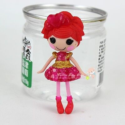 Beauty red dress 3Inch Original MGA Lalaloopsy Dolls Mini Dolls For Girl's Toy
