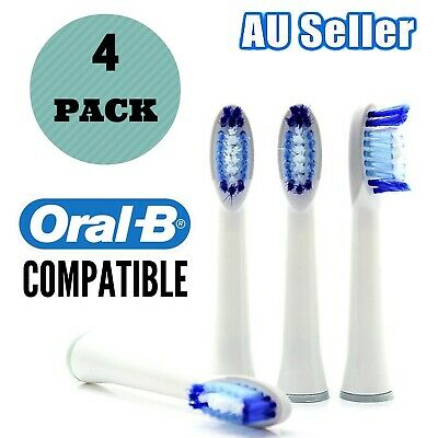 4 Oral B Compatible PULSONIC Electric Toothbrush head Replacement Brush Heads