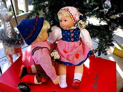 "Kathe Kruse 10"" German Puppen Dolls in Original Box Child of Fortune  RARE!"
