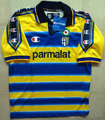 Authentic Champion Parma 99/00 Home Jersey. BNWT, Mens S.