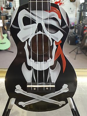 Mahalo Art Series Pirate Skulls and Crossbones Soprano Ukulele with Bag - NEW!