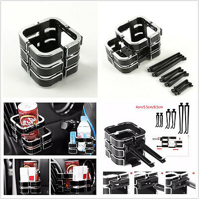 Universal Black Car SUV Drink Bottle Cup Holder Magic Cube Phone Sundries Holder