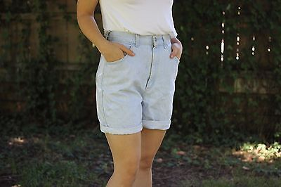 LEE Vintage (Women's) High Waisted Shorts (Light Wash) Size 10