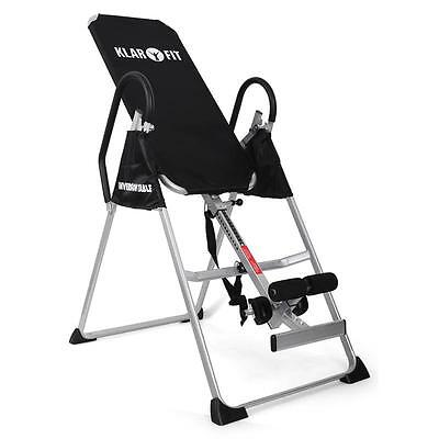 Klarfit Fittbl1 Folding Inversion Table Back Therapy Bench Home Gym New Fitness
