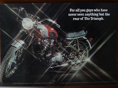1971 Triumph Bonneville No 15 Vintage Ad Gallery Postcard MT108PC Unused