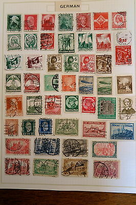 Germany Stamp Collection On Album Page