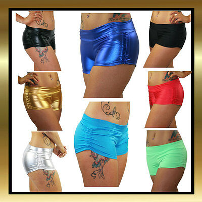 Pole Dance Shortsvwith Elastic Free Band and Srunched Sides