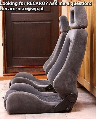 RECARO LXc -the Pair-Grey Velour+adj lumbal+heating fits BMW e30 saloon touring