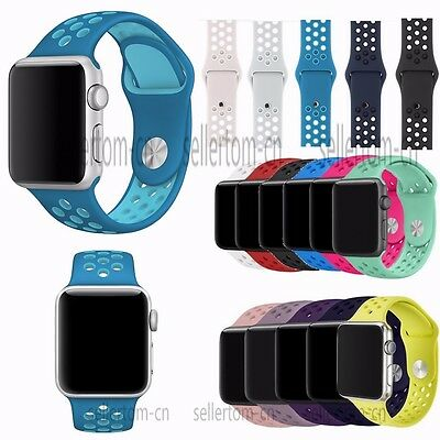 Silicone Sports Watch Correas Band Strap Bracelet for Apple Watch Series 3 2 1