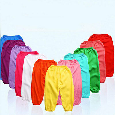 Kids Pants Boy Girl Bourette Trousers Candy Color Children Clothing For Summer
