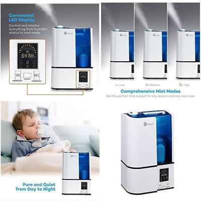 Air Humidifier Water Evaporator Tank Cool Mist Ultrasonic Home Humidity Bedroom