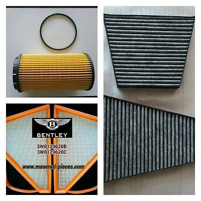 Air+Cabin+Oil Filter Bentley Continental GT/Flying Spur W12 #3W0129620BC