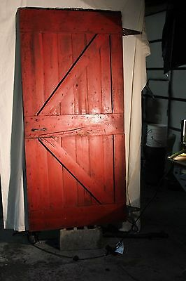 Vintage wood salvage architectural salvage barn door