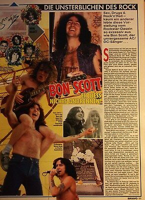 1 german clipping BON SCOTT AC/DC SINGER ROCK BOY BAND BOYS ANGUS YOUNG GROUP