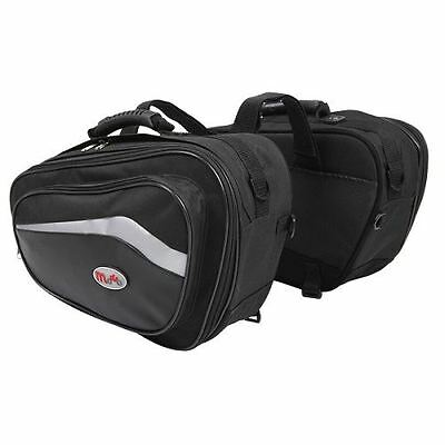 Motohart Speed Motorcycle Scooter Sports Panniers 60 Litres Black New