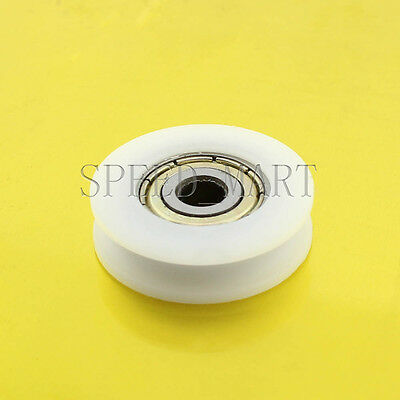 1 pcs U Nylon plastic Embedded 696 Groove Ball Bearings 6*22*7mm Guide Pulley