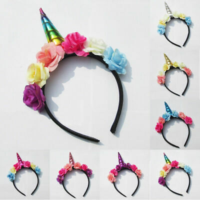 Decorative Magical Unicorn Horn Head Glitter Party Hair Headband Fancy Dress