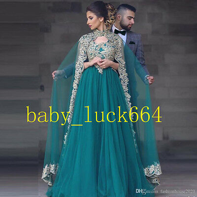 Cape Green Applique Long Mother Of The Bride Dresses Formal Outfits Party Gowns