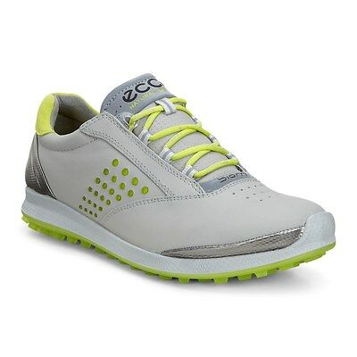 ECCO GOLF Women's Size 6 US BIOM Hybrid 2 Golf Shoes Light Gray Lime Green