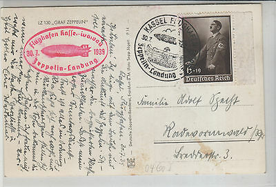 Germany,  1939  Zeppelin Flown Ppc