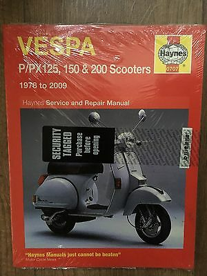 Haynes manual Vespa P/PX 125, 150, 200 Scooters 1978-2009