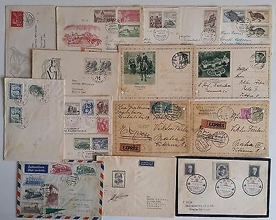 Czechoslovakia Cover Postcard 1936 stamp  Collection