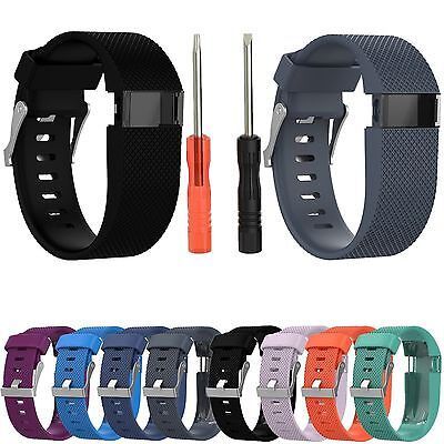 Strap For Fitbit Charge HR Replacement Silicone Watch Band Strap Wrist With Tool