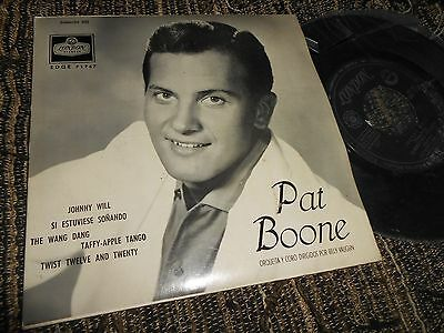 """PAT BOONE Johnny Will +3 EP 45 7"""" 1962 SPAIN SPANISH edition"""