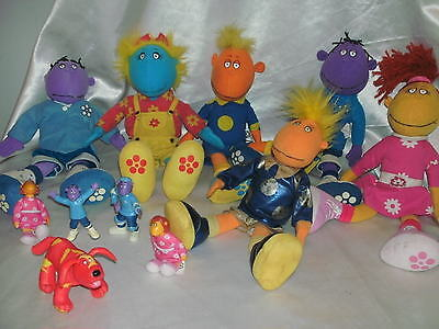 Tweenies Milo Jake Fizz Bella + Doodles The Dog  Plush Set Plus Other Figures
