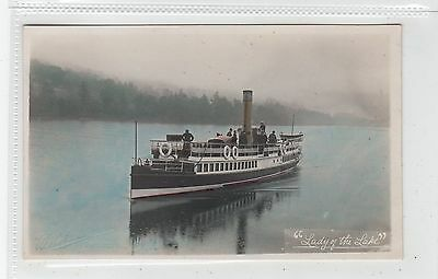 """LADY OF THE LAKE"": Steamer postcard by W Robertson of Gourock (C28400)"
