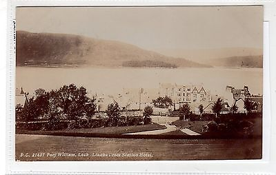 LOCH LINNHE FROM STATION HOTEL, FORT WILLIAM: Inverness-shire postcard (C28183)