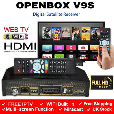 Openbox V9S Digital Full HD TV Satellite Receiver Box Genuine WIFI UK STOCK
