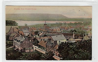 KINROSS FROM CHURCH TOWER: Kinross-shire postcard (C28457)