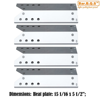 Bar.b.q.s 96781 ( 4pack ) Replacement Gas Grill Stainless Steel Heat Shield, Hea