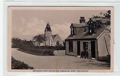 DRUMCLOG POST OFFICE & MEMORIAL KIRK, STRATHAVEN: Lanarkshire postcard (C28128)