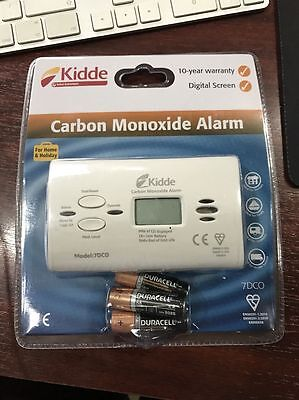 Kidde Carbon Monoxide Alarm Detector 7DCO CO Long Life 10 Year Warranty