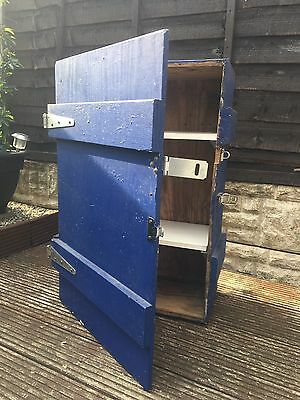 Large Blue Wooden Shelving Unit / Toolbox For A Shed Or Garage