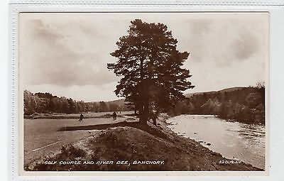 GOLF COURSE AND RIVER DEE, BANCHORY: Kincardineshire postcard (C28203)