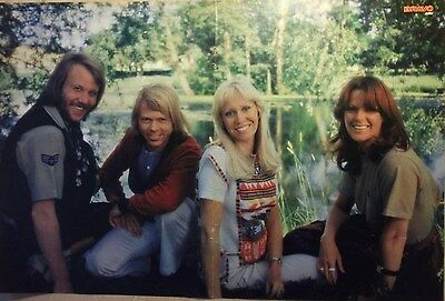 1 german poster ABBA AGNETHA ANNAFRID BENNY BJORN BOY BAND BOYS GROUP