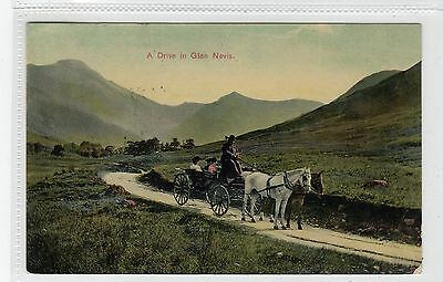 A DRIVE IN GLAN NEVIS, near FORT WILLIAM: Inverness-shire postcard (C28332)