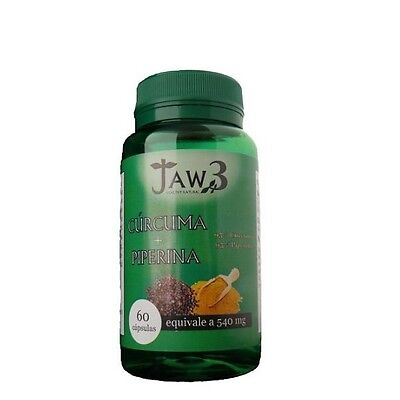 CURCUMA + PIPERINA 540mg 60 Capsulas JAW3