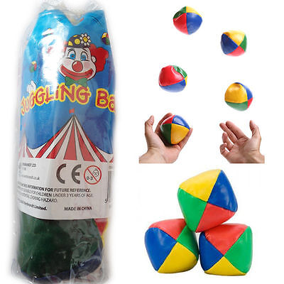 Juggling Balls Juggle Soft Party Trick Kids Learn Activity Toy Fun Clown Circus