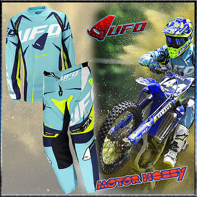 Completo Cross Enduro Mtb Ufo Element 2017 Combo Taglia M - 48 Turchese Blu