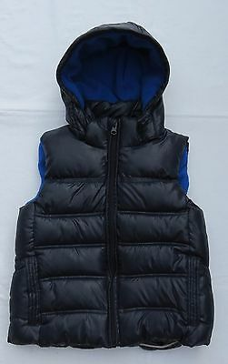 Boys LILY & DAN Padded Puffer VEST JACKET with Detachable HOOD - Size 6