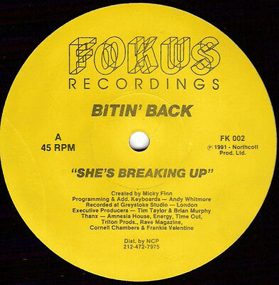 Bitin' Back ‎– She's Breaking Up / Boom Box
