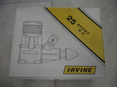 Vintage Irvine .25 Sport 2 Stroke Engine Made In England BNIB Classic