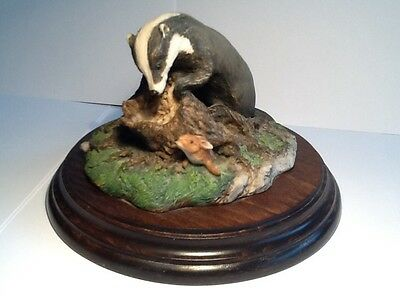 Country Artists Badger And Hare Figure