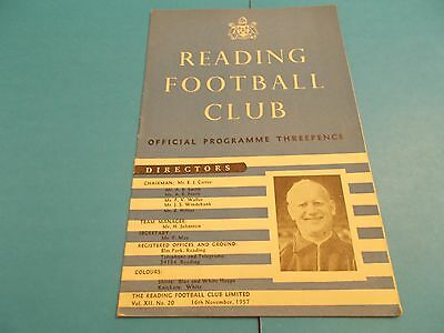 1957-58 Reading v Swindon Town