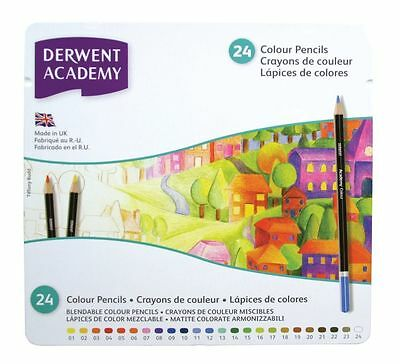Derwent Academy Colour 24 Pencil Tin